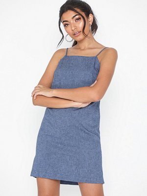Topshop Chambray Mini Slip Dress