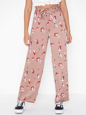 Only persikofärgade byxor med tryck Onlgiza Palazzo Pants Wvn