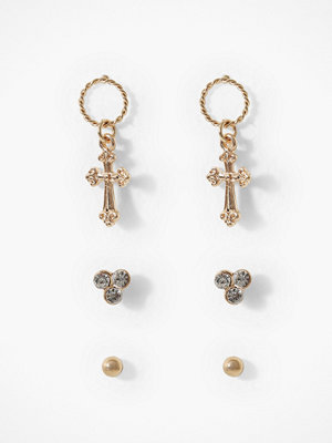 Missguided Jewelry örhängen Cross Earring Multipack