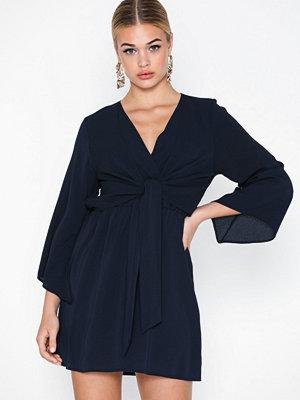 Ax Paris V Neck Long Sleeve Dress