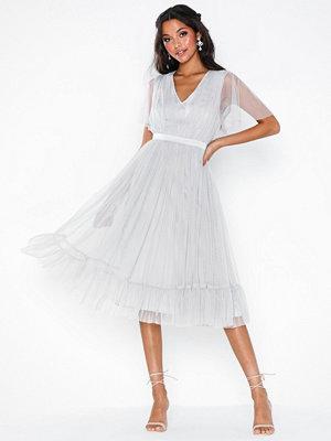 Maya Gathered Tulle Midi Dress