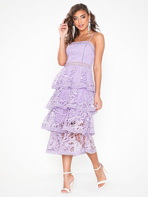 True Decadence Frill Lace Midi Dress