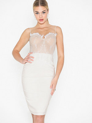 Rare London Lace Bralet Midi Dress