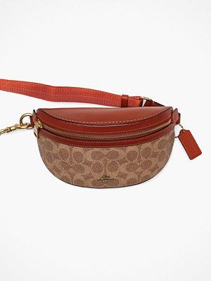 Coach mönstrad axelväska Coated Canvas Signature Belt Bag