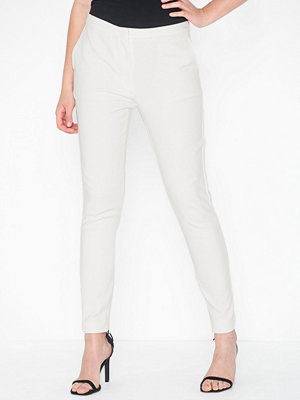 Selected Femme vita byxor Slfmusi Cropped Mw Pant- Snow White