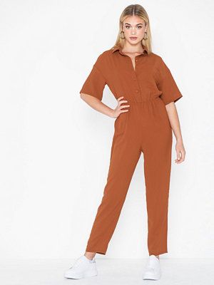 Missguided Short Sleeve Utility Jumpsuit