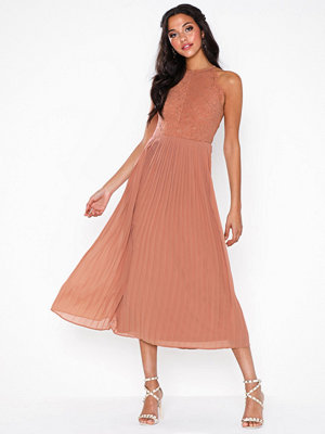 Rare London Lace Top Pleated Maxi Dress