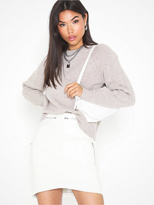 Missguided Curved Hem Zip Mini Skirt