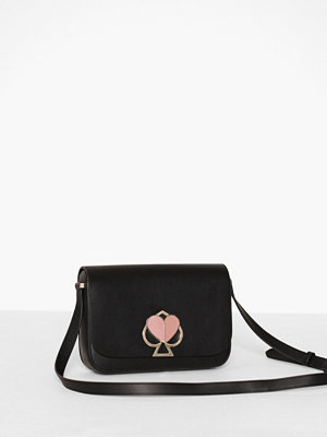 kate spade new york svart axelväska Nicola Twistlock Medium Flap Shoulder