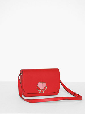 kate spade new york röd axelväska Nicola Twistlock Medium Flap Shoulder