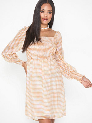 Only Onlelle L/S Check Short Dress Wvn