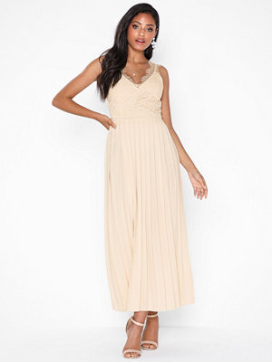 Little Mistress Midaxi Lace Trim Dress