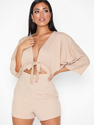 NLY One Flowy Sleeve Tie Playsuit