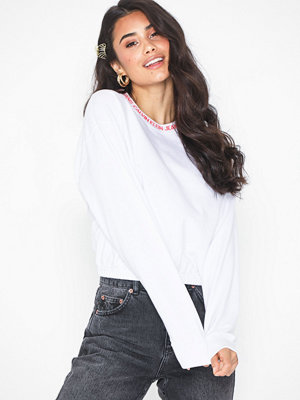 Tröjor - Calvin Klein Jeans Logo Tape Cropped Crew Neck