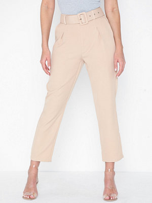 Missguided omönstrade byxor Stone Woven Cigarette Trousers