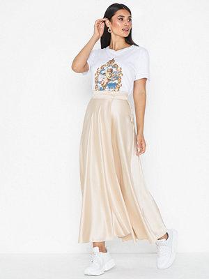 Topshop Satin Full Circle Midi Skirt