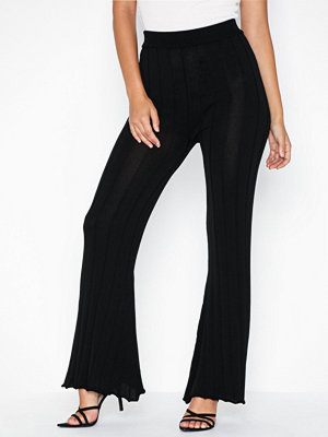 Topshop svarta byxor Knitted Ribbed Trousers