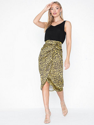 Missguided Animal Print Midi Skirt