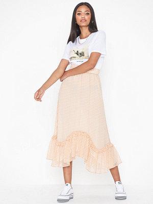 Only Onlelle L/S Check Mdi Skirt Wvn