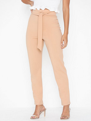 NLY One beige byxor High Waist Pant