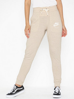 Nike omönstrade byxor W Nsw Gym Vntg Pant Oatmeal