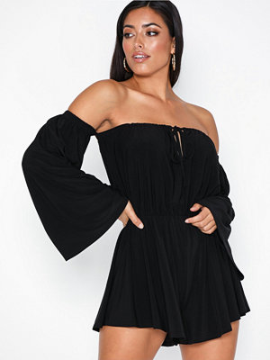 NLY One Off shoulder Frill Playsuit