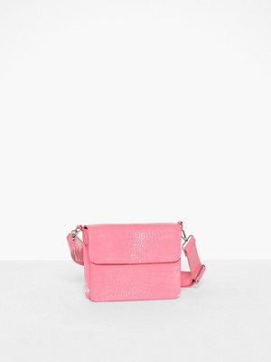 hvisk gammelrosa mönstrad axelväska Cayman Shiny Strap Bag