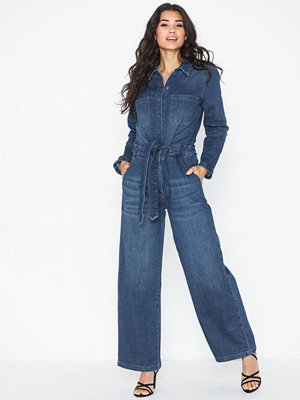 Selected Femme Slfvictoria Denim Jumpsuit W