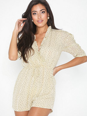Jumpsuits & playsuits - Glamorous Puff Sleeve Playsuit