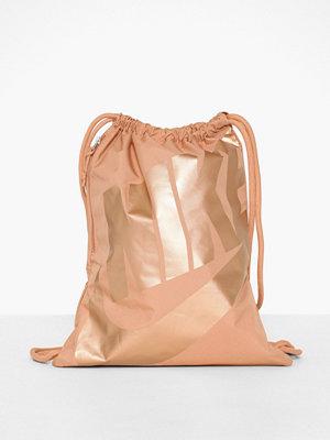Nike beige ryggsäck med tryck Nk Heritage Gmsk