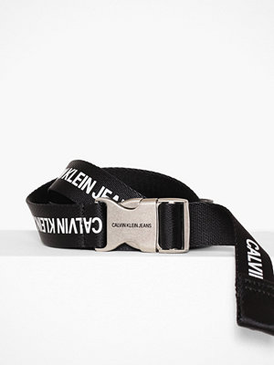 Calvin Klein J 3CM Canvas Plaque Belt