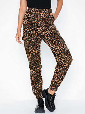 Missguided mönstrade byxor Leopard Print Cargo Cuffed Trouser