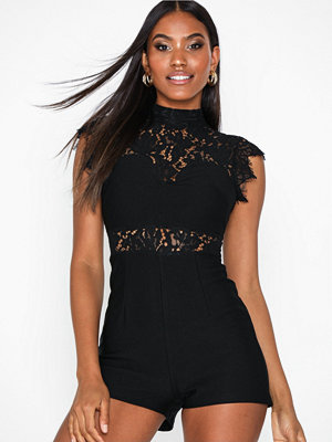 Jumpsuits & playsuits - Rare London High Neck Lace Playsuit