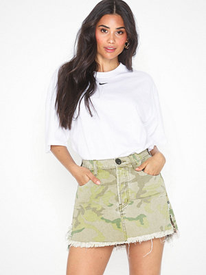One Teaspoon Safari Camo Relaxed Denim Skirt