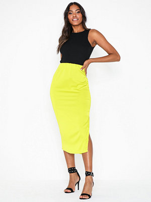 Missguided Stretch Satin Midi Skirt