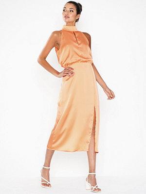 Glamorous Long Satin Dress