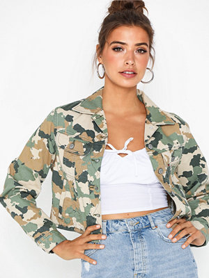 Jeansjackor - Lee Jeans Cropped Rider Jacket Camouflage
