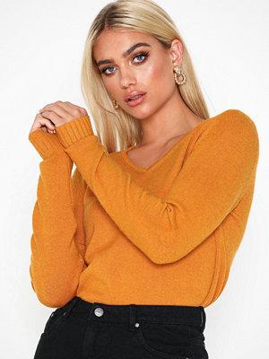 Vila Viril L/S V-Neck Knit Top-Noos Orange