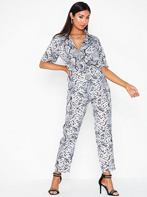 Jumpsuits & playsuits - Missguided Printed Shirt Jumpsuit