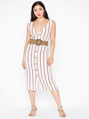 River Island Linen Waisted Dress