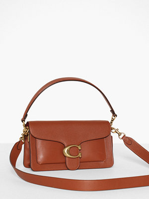 Coach brun axelväska Mixed Leather With Polished Pebble Tabby Shoulder Bag 26