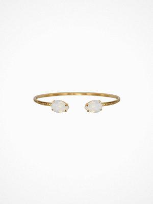 Caroline Svedbom armband Petite Drop Bracelet Guld/Vit