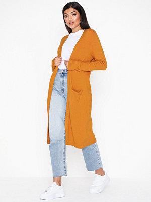 Vila Viril L/S Long Knit Cardigan-Noos Orange