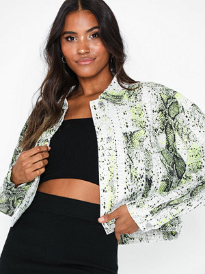 Missguided Neon Snake Denim Jacket