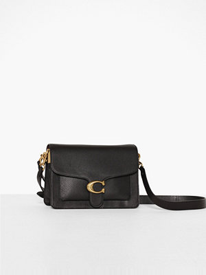 Coach svart axelväska Polished Pebble Leather Tabby Shoulder Bag