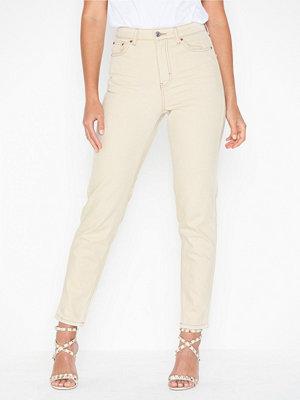 Topshop Ecru Corduroy Mom Jeans