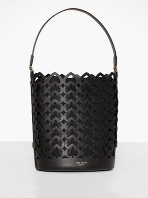 kate spade new york svart axelväska Dorie Medium Bucket