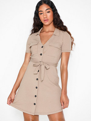 River Island Utility Rib Shirt Dress