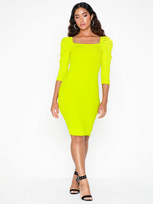 River Island Poppy Rib Mini Dress Lime