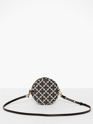 By Malene Birger svart mönstrad axelväska Circle Bag